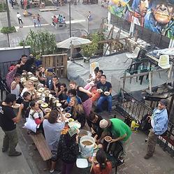 Nina Shunku, lunch, cafeteria, Quito, Pachaysana, project