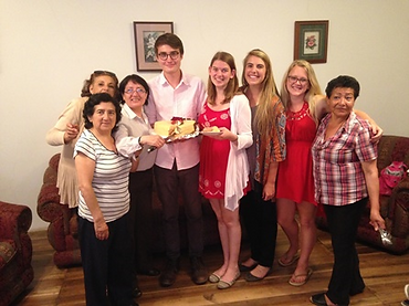 Students and host mothers in Quito