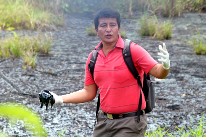 chvron-texaco, oil contamination, ecuador, amazon, cofan