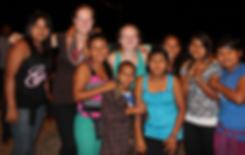 Beloit College Student with local community members in Ecuadorian Amazon
