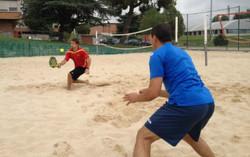 Dinámica y estabilidad, fundamentales en el tenis de playa