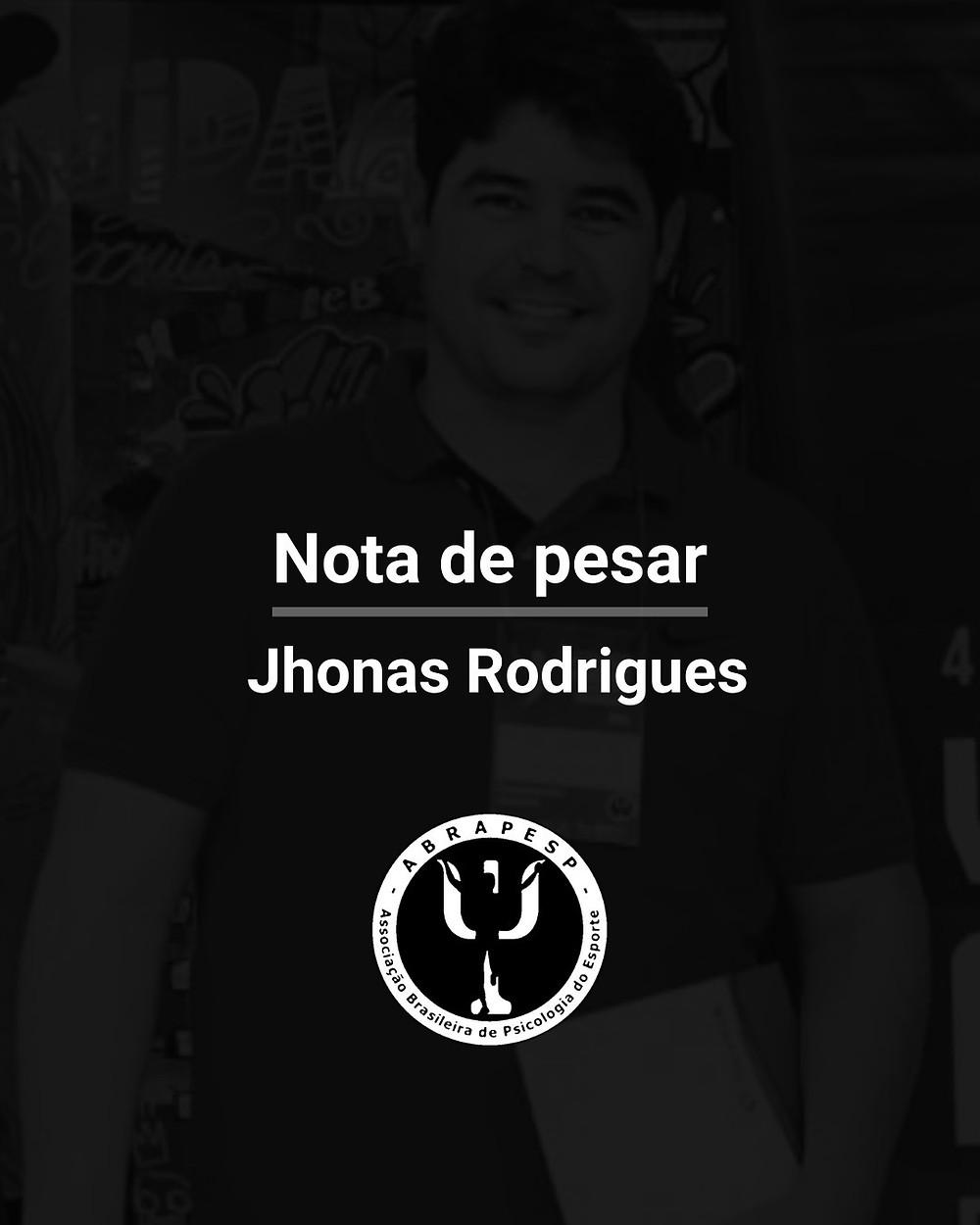 Nota de Pesar - Jhonas Rodrigues