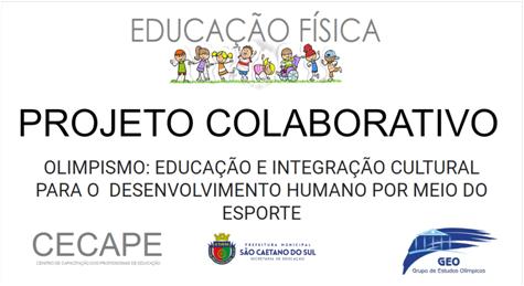 """Imagem com logo do Projeto Colaborativo """"Olimpismo: Educação e integração cultural para o desenvolvimento humano por meio do esporte""""."""