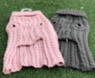 סוודר לכלבים ורוד אפור.jpg