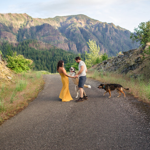 Columbia River Gorge Couples Session: Kelsey and Ry