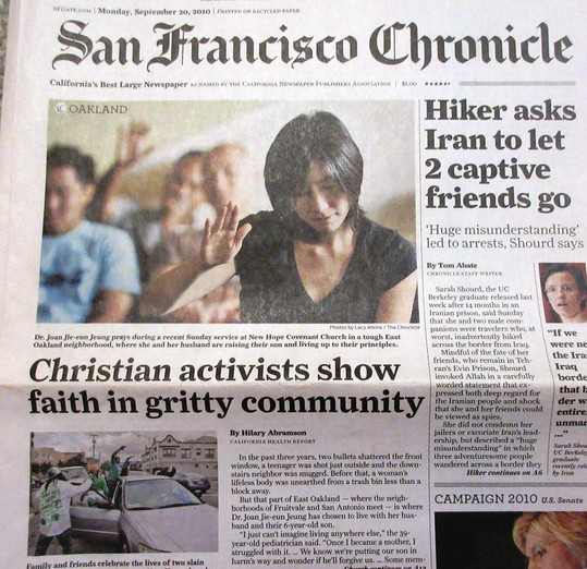 Joan in San Francisco Chronicle