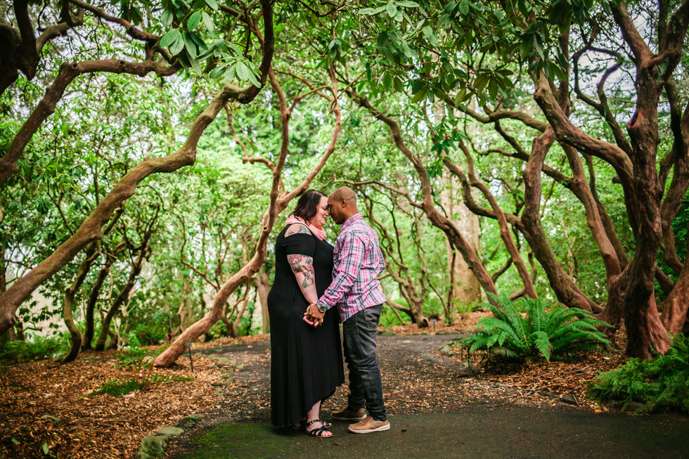 Crystal Springs Rhododendron Garden Engagement Session