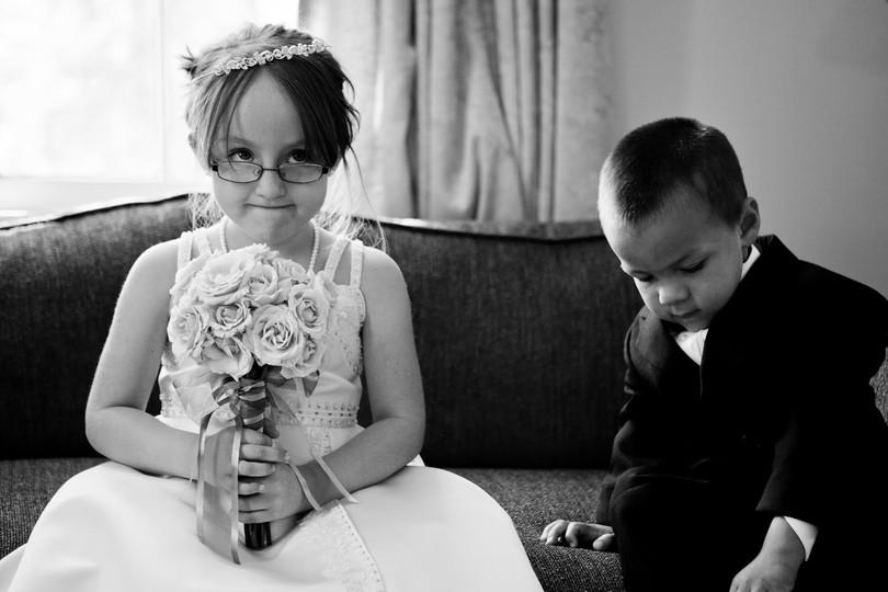 real life flower girl and ring bearer