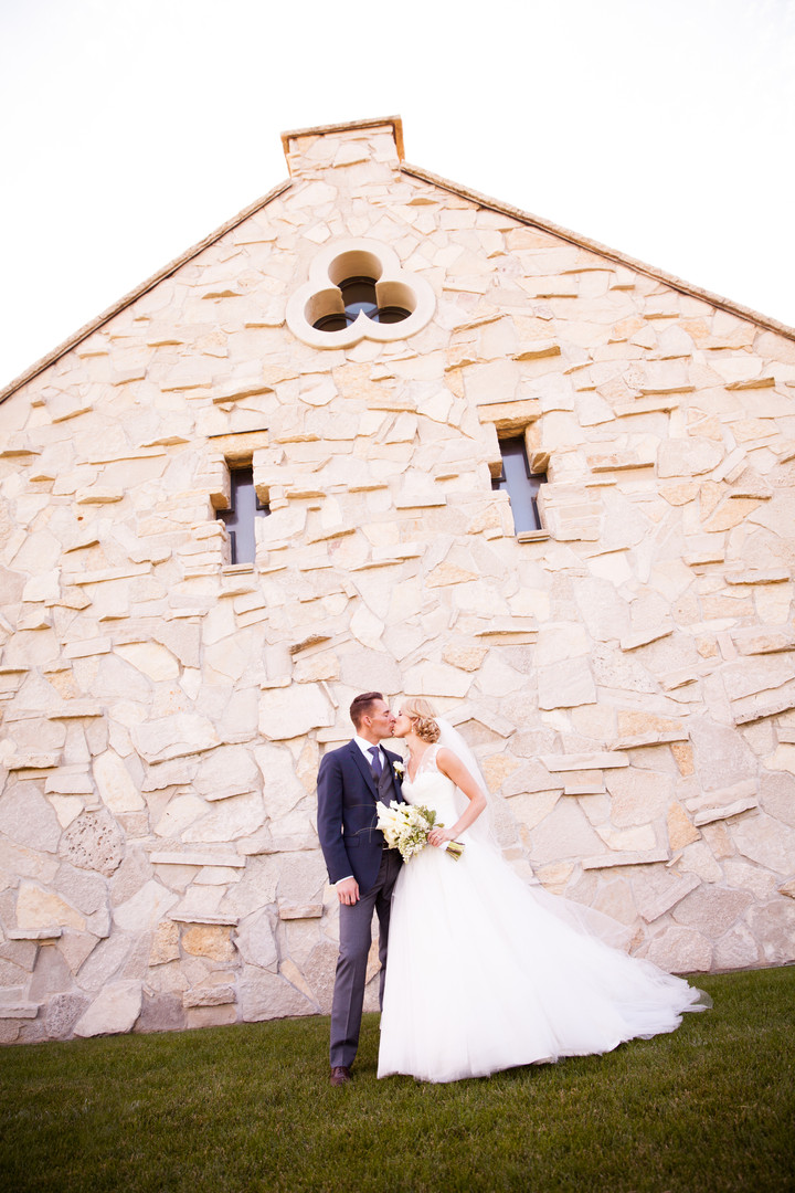 Wedding couple at Whistling Straits