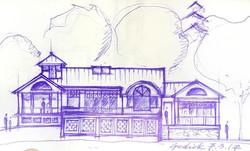 paper tablecloth sketch