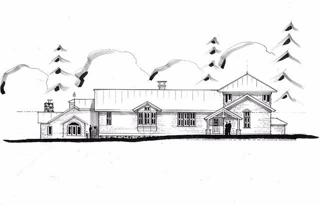 architect house sketch