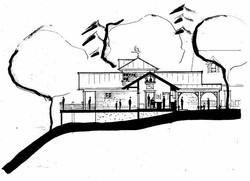 architect building sketch