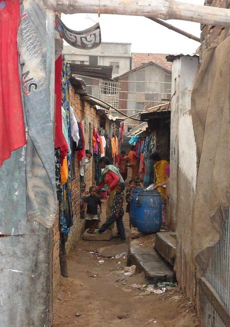 Slum in Rayer Bazaar- home to Jaago students