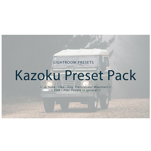 Kazoku Lightroom Preset Pack