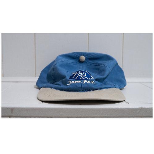 Yama Folk Cap- Blue/Tan