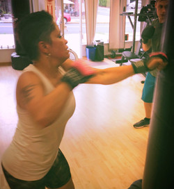Wanda at Kickboxing Class