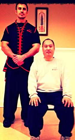 Sifu Bill Fong with Denis Ark