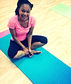 Naika at Yoga Class