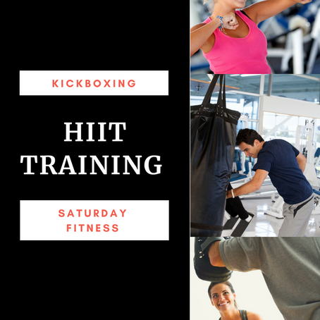 HIIT Training (featured in our Kickboxing Classes and Saturday Fitness)