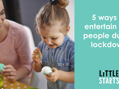 5 Activities to do at home with babies and toddlers from Little Starts Gift Cards Class Providers