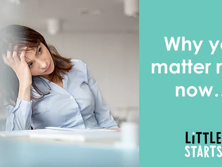 Why you matter right now...