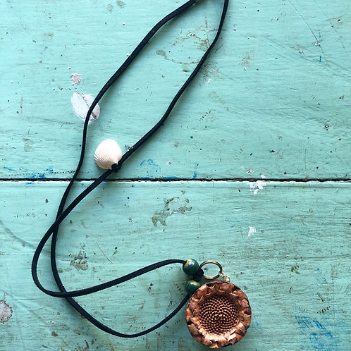 Natural Protea Diffuser Necklace