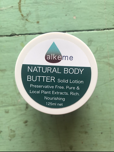 Natural Body Butter (Solid Lotion) 125ml