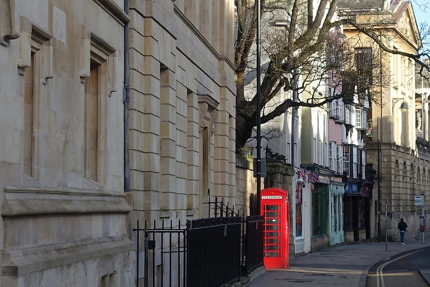 Phone box in Oxford