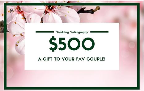 Wedding Gift Card, Gift Card, Wedding Videography, Wedding Photography, Melbourne Weddings