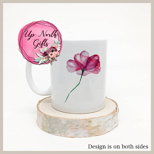 Beautiful Watercolor Flower Mug