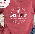 lake shetek maroon UA360 vintage fleece.
