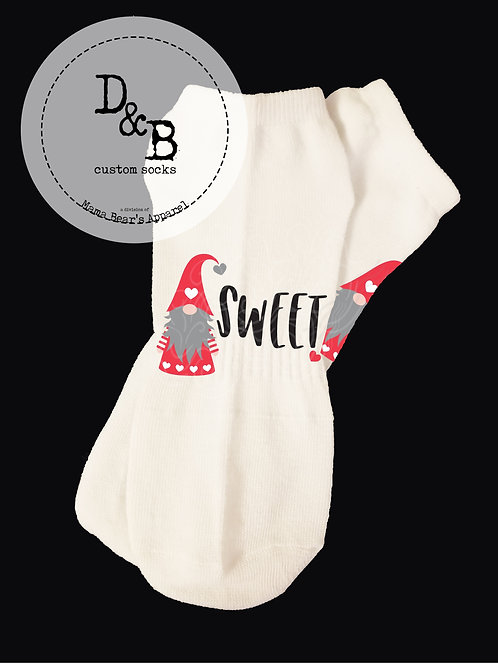 You're Gnome Sweet Valentine Socks