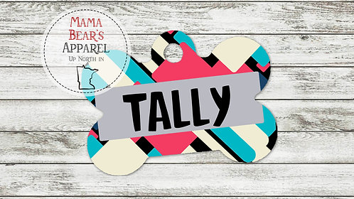 Totally 80's Personalized Dog Name Tag