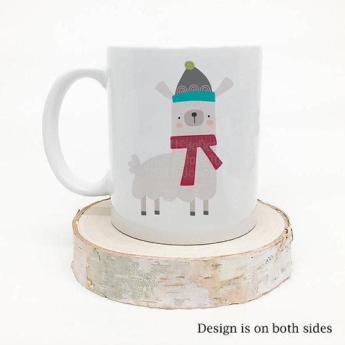 Stocking Hat Llama Christmas Coffee Mug