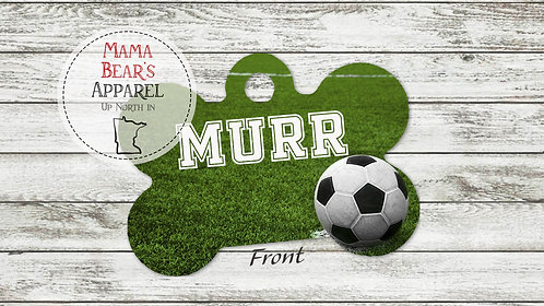 Soccer Field Personalized Dog Name Tag