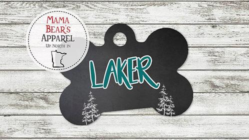 Chalkboard with Trees - Personalized Dog Name Tag
