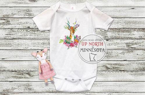 Oh, Deer....She's Here Infant Bodysuit