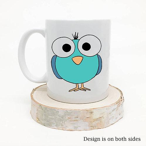 Cute Little Blue Bird Coffee Mug