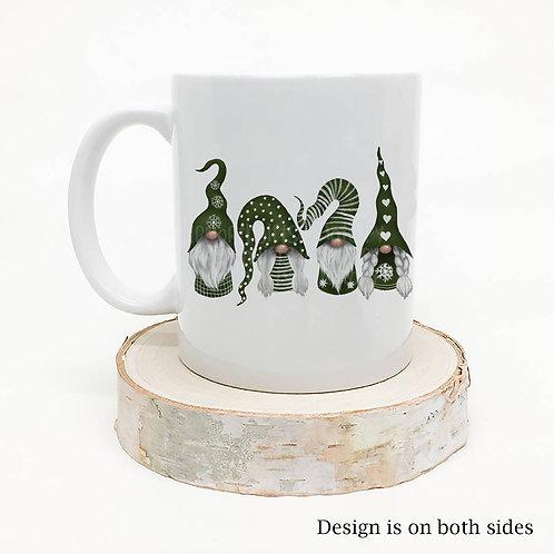 Four Adorable Scandinavian Gnomes Mug