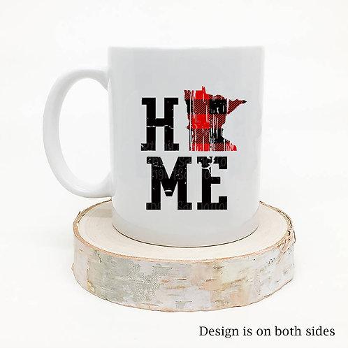 Minnesota HOME Buffalo Plaid Coffee Mug