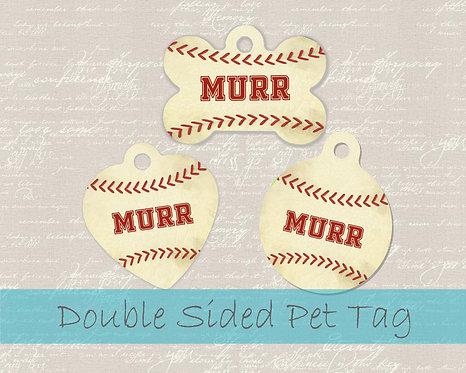 Baseball - Personalized Dog Name Tag