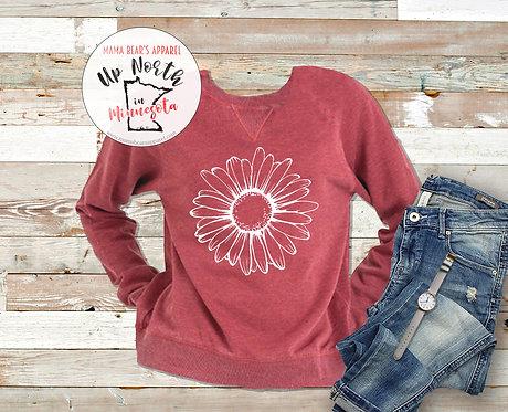 Simple Sunflower Vintage Fleece