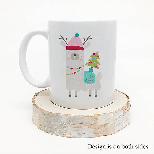 Llama Christmas Coffee Mug