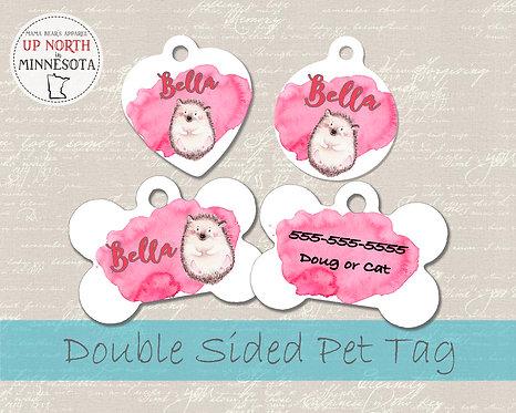 Adorable Hedgehog - Double Sided Dog ID Tag