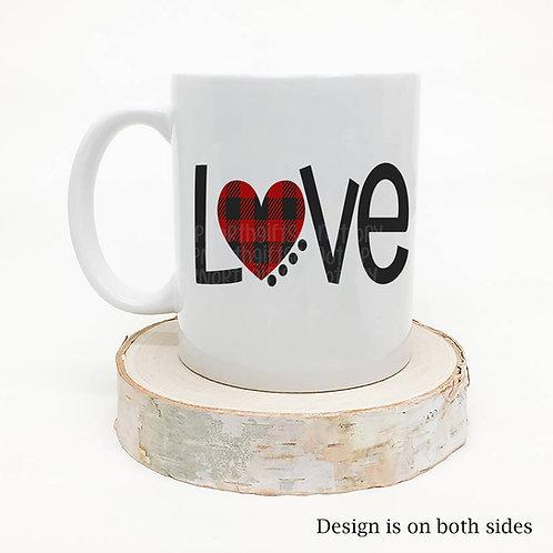 Buffalo Plaid LOVE Coffee Mug