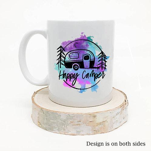 Happy Camper Watercolor Coffee Mug