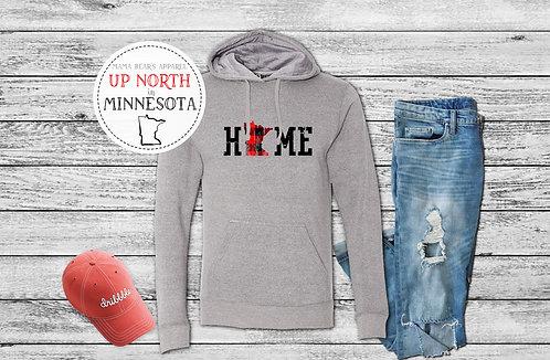 Distressed Minnesota HOME Sweatshirt