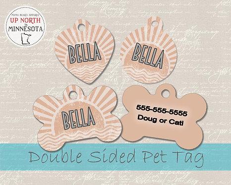 Boho Sun Dog Tag - Personalized Dog Name Tag