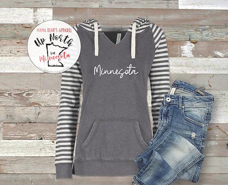 Minnesota Women's Striped Sweatshirt