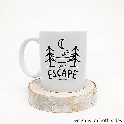 Just Escape Camping Coffee Mug